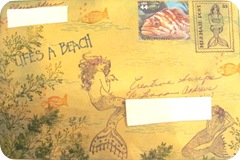 Mermaid mail art envy front