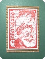 Christmas card postcard santa