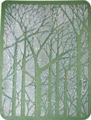 Christmas card glittered tree