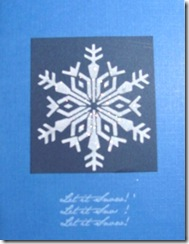 Christmas card blue with snowflake
