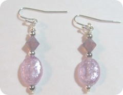 2-1-11 OWOH lavendar earrings