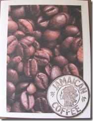 coffee bean card