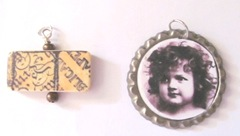 charms domino and bottlecap