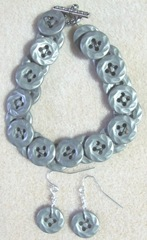 button bracelet.earrings
