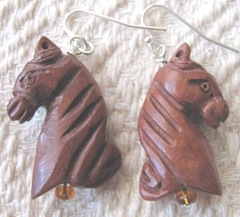 earrings horse heads
