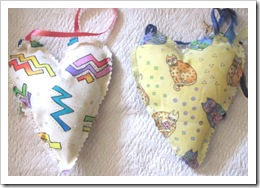 heart hanging pillows LB backs
