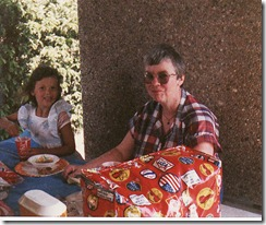 1987-05 Sela and Oma picnic