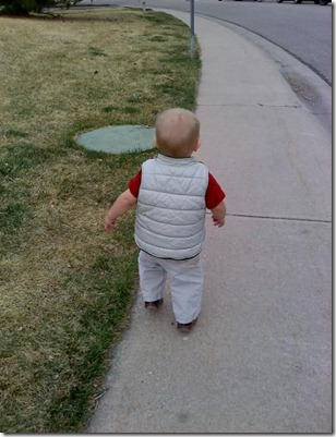 2011-04-04 Nate and Mommy walking (5)
