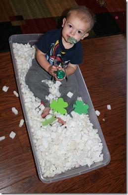 2011-03-09 Nate in the sensory bin (2)