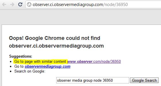 Chrome Autofix URL