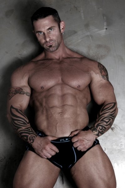 big gay muscle man