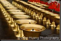 Oil Lamp - Wannian Temple, Mount Emei, Sichuan Province, China
