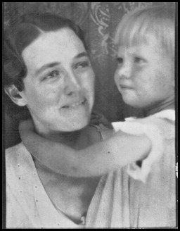 Martha Marie Barnes Pugh and her mother 1934-35