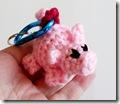pig amigurumi key chain