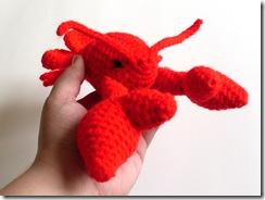 lobster amigurumi