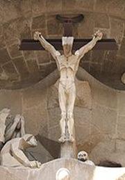 La-crucificción-fachada la pasión sagrada familia