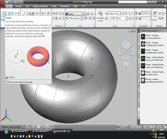autocad crear un toroide sólido, Autocad 3d Solids Sphere Torus