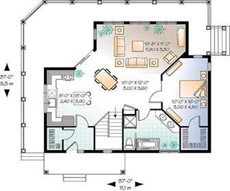Planos de casas con una arquitectura moderna arquitexs for Espacios minimos arquitectura