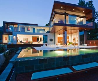 Fachadas-casas-modernas-casas-de-lujo-diseño-fachadas-Hollywood-Hills.-