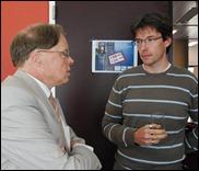 Heiko Tjalsma (DANS) en Filip Boudrez (Stadsarchief Antwerpen)