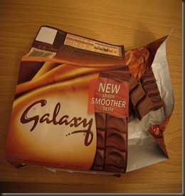 galaxy bar with pieces