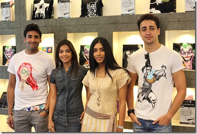Designer Rish Oberoi, Kinjal Parikh and Shagun Shah of SOBO with Imran Khan