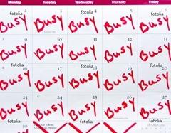 Busy calendar