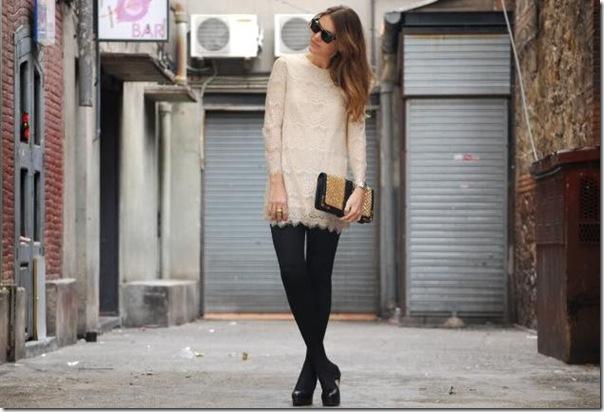 vestido renda   meia calça