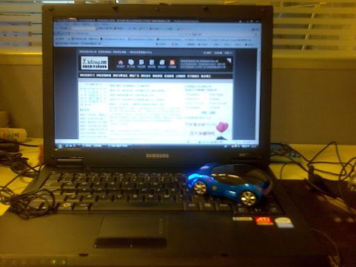 法拉利鼠标与我的SAMSUNG笔记本