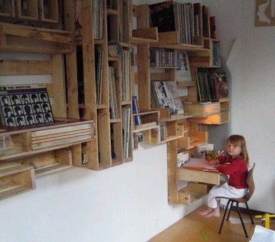 Estantes de paletes para livros