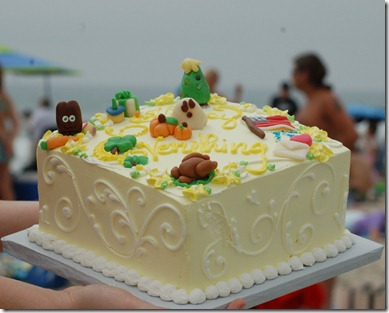 Beach cake                              small file