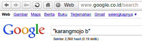 Karangmojo b Menurut Google
