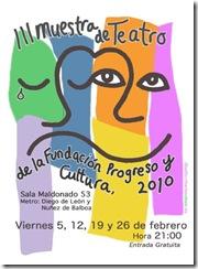 muestra teatro fundación progreso y cultura