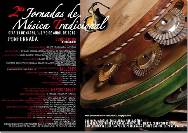 CARTEL JORNADAS música tradicional Ponferrada 2010