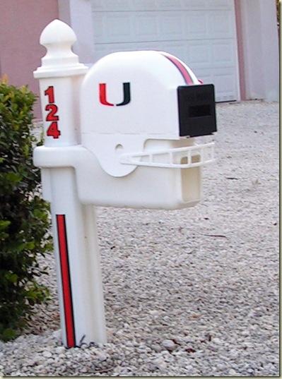 UM Football Helmet Mailbox