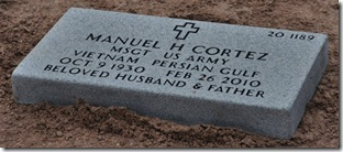 Manny's grave stone