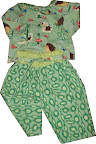 Hedgehog Pants and Blouse Set 92 cm