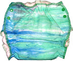 Medium Water Lilies Dyed Fitted Diaper