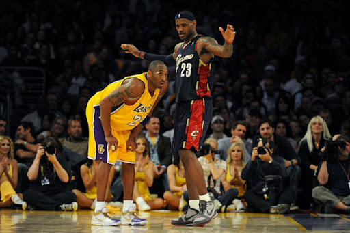 lebron james dunk over kobe bryant. Lebron+james+dunks+on+kobe
