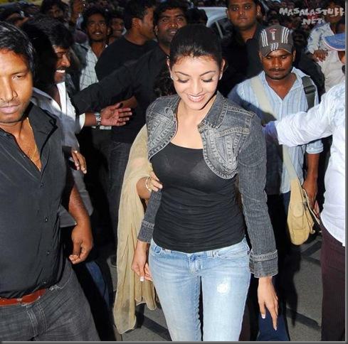 1Kajal Aggarwal in tight tops