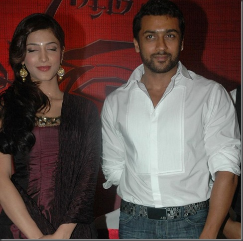 18 May 2010 – Suriya and Shruti Stills in 7 Am Arivu Press Meet ... Click here for entire Gallery of 7 Am Arivu Movie Press Meet Stills
