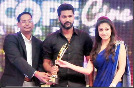 prabhu deva,nayanthara at southscopeawards6
