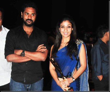 prabhu deva,nayanthara at southscopeawards7