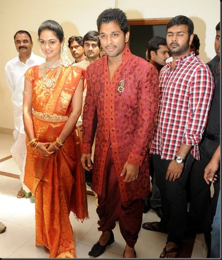 Allu Arjun Sneha Reddy wedding reception pictures-15