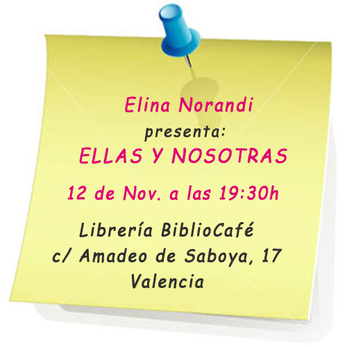 presentación Elina Norandi en Valencia