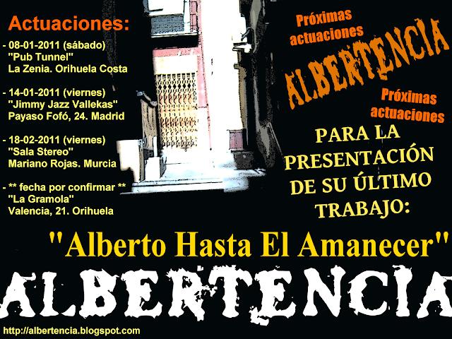 Cartel Provisional para las actuaciones de la presentación del 2º CD de Albertencia: