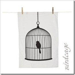 Birdcage Tea Towel