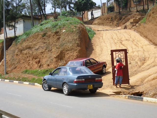 Türtransport in Ruanda