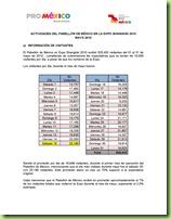 Informe del Pabellón de México a ProMéxico