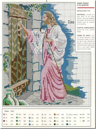Jesús en punto de cruz esquemas gratis | En Punto de cruz
